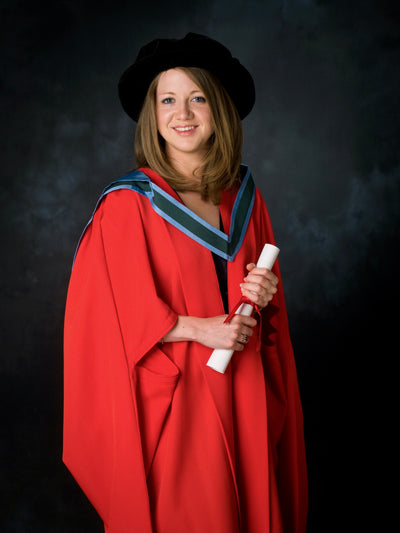 Masters Graduation Portrait of a woman in colour