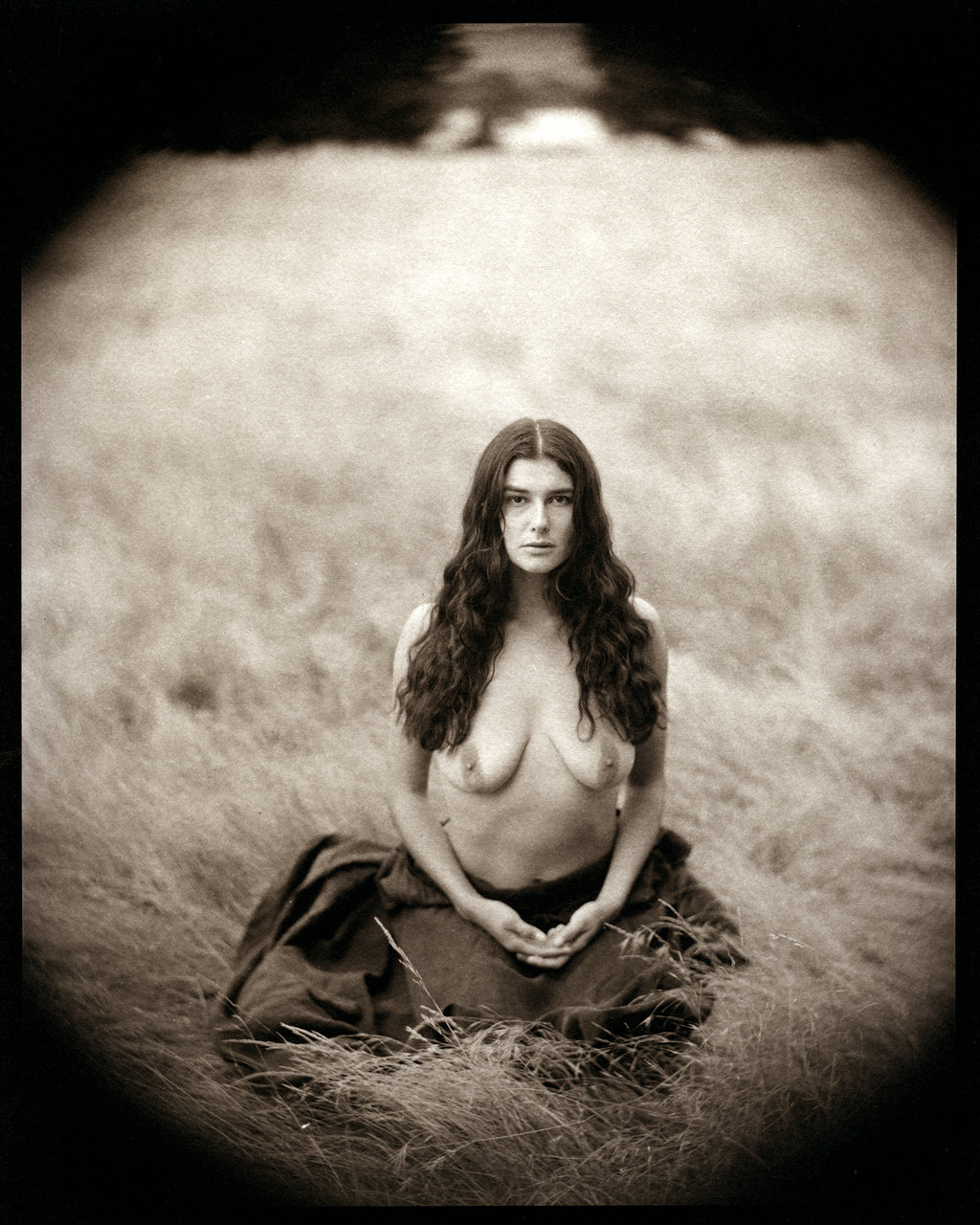 Maya in the field nude
