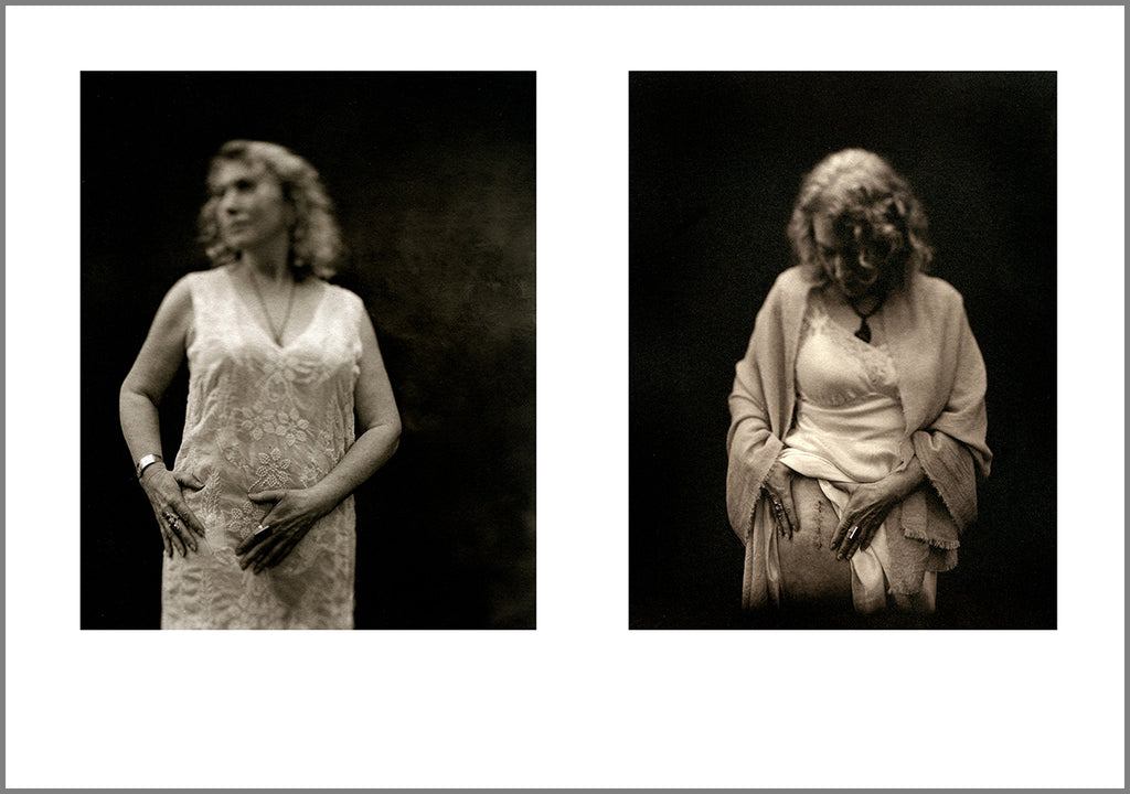 "As we get older - ""Julie gets a new hip"" - diptych from Memory of Never"