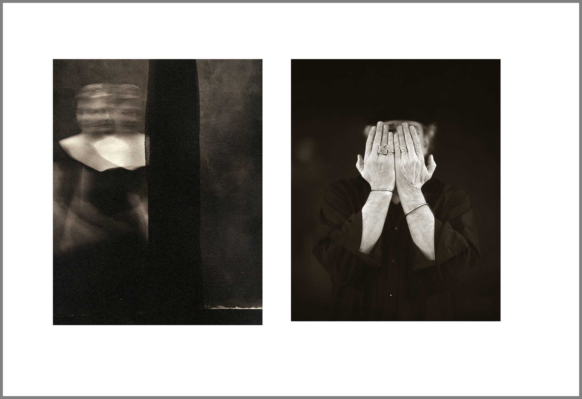 "As we get older - ""On becoming invisible"" - diptych from Memory of Never"