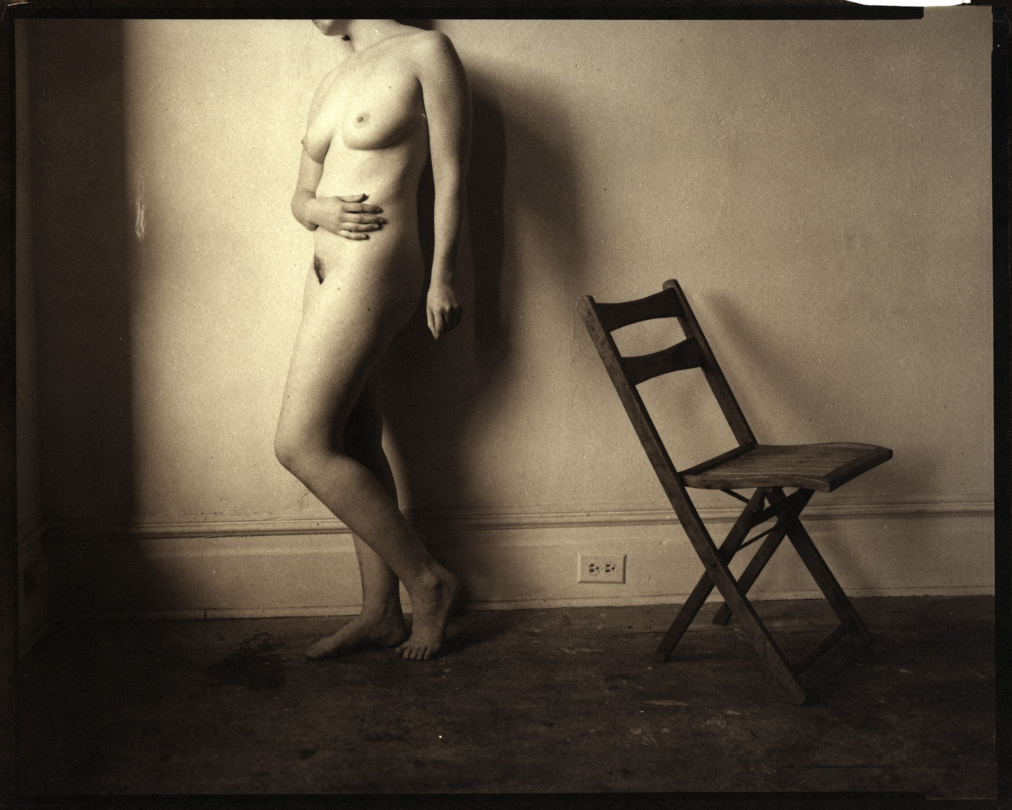 Nude with chair