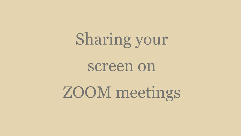 Screen sharing on ZOOM meetings