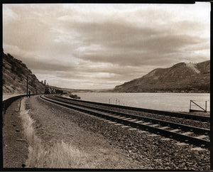 Columbia river + train