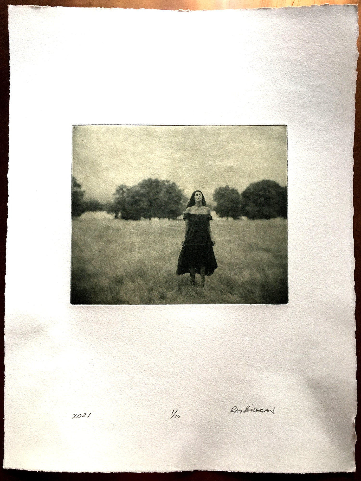 Greeting the day   - Polymer photogravure print - Edition 2021
