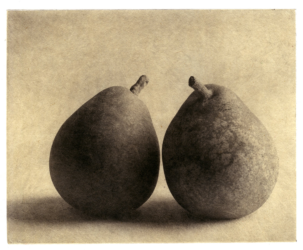 Two Pears   - Polymer photogravure print - Edition 2021