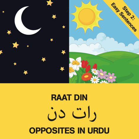 Urdu book Raat Din opposites step 2