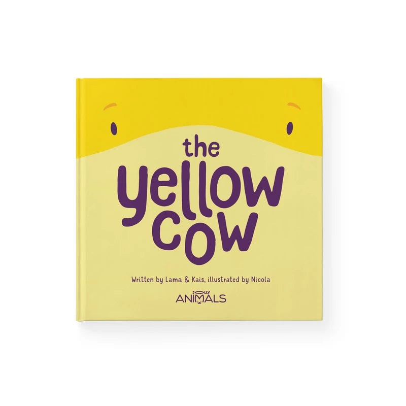 jolly animals the yellow cow