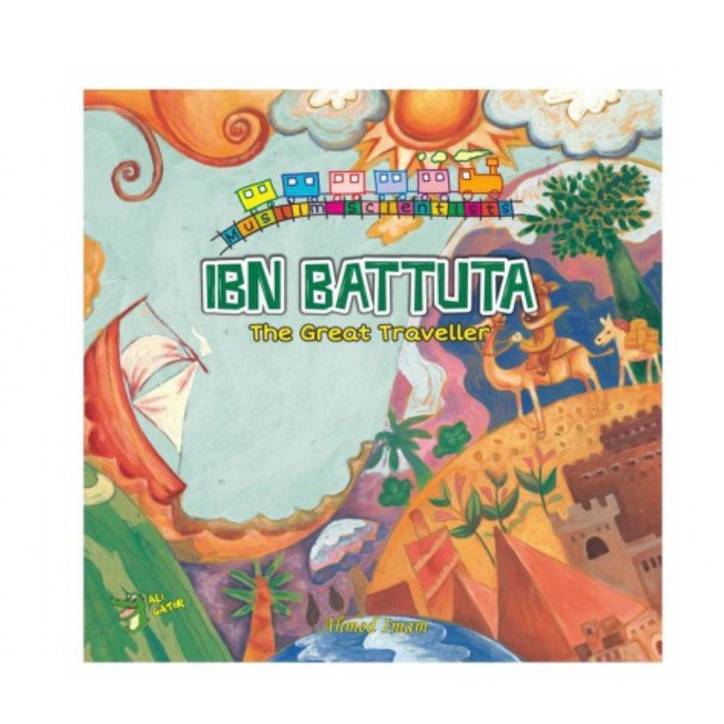 "Long before plane or trains were invented, Ibn Battuta went on a remarkable 30-year journey, including four trips to Hajj, travelling over 100,000 kilometres. No wonder he is called ""The Great Traveller"".  Through beautiful full-page illustrations and easy-to-understand text, this book introduces young Muslims to the adventures of Ibn Battuta, and the dua said before travelling.  The Muslim Scientists series introduces children to great scientist, scholars & adventurers from the Golden Age of Islam"
