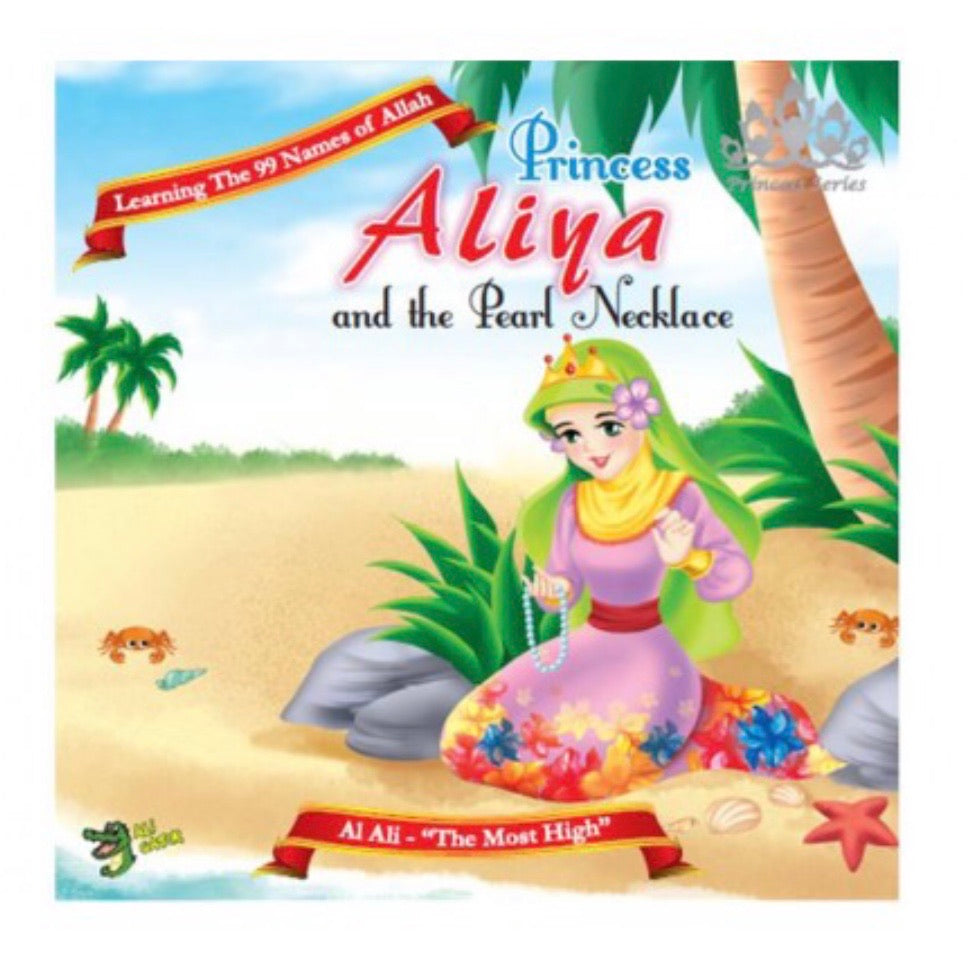 After finding a pearl necklace on the beach one day, Princess Aliya asked her friends if any of them had lost a necklace.  When both Hafsa and Salma said they had lost a pearl necklace that day, Princess Aliya and the other friends were in shock.  Princess Aliya wanted to do the right thing, but didn't know what to do, until the truth came out.    BASED ON THE ASMA UL HUSNA (The 99 Names of Allah) these books teach good character & the attributes of Allah.  24 pgs