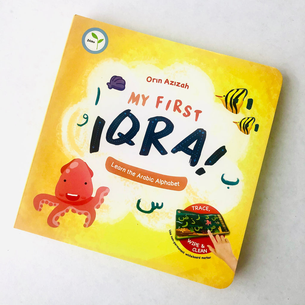 My First Iqra A fun-filled, colourful, interactive book where children can learn and practice the Arabic alphabet in an interactive way. Use your finger to trace the alphabets or use the wipe and clean option to practice. Once mastered the alphabet, you can then learn the various vowels before the next stage of learning a few Arabic words.