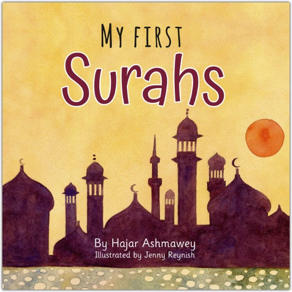 Enjoy reading seven surahs of the Quran, written against seven beautiful pieces of art. Contemplate each surah as you recite it to your little ones while enjoying the artistic backgrounds. Plus! Each surah includes a lesson to implement into everyday life.