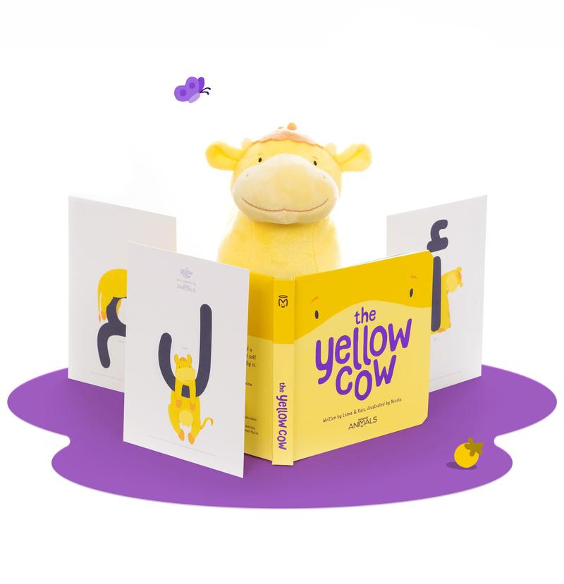 the yellow cow jolly animals
