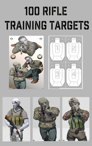 100 Rifle Targets