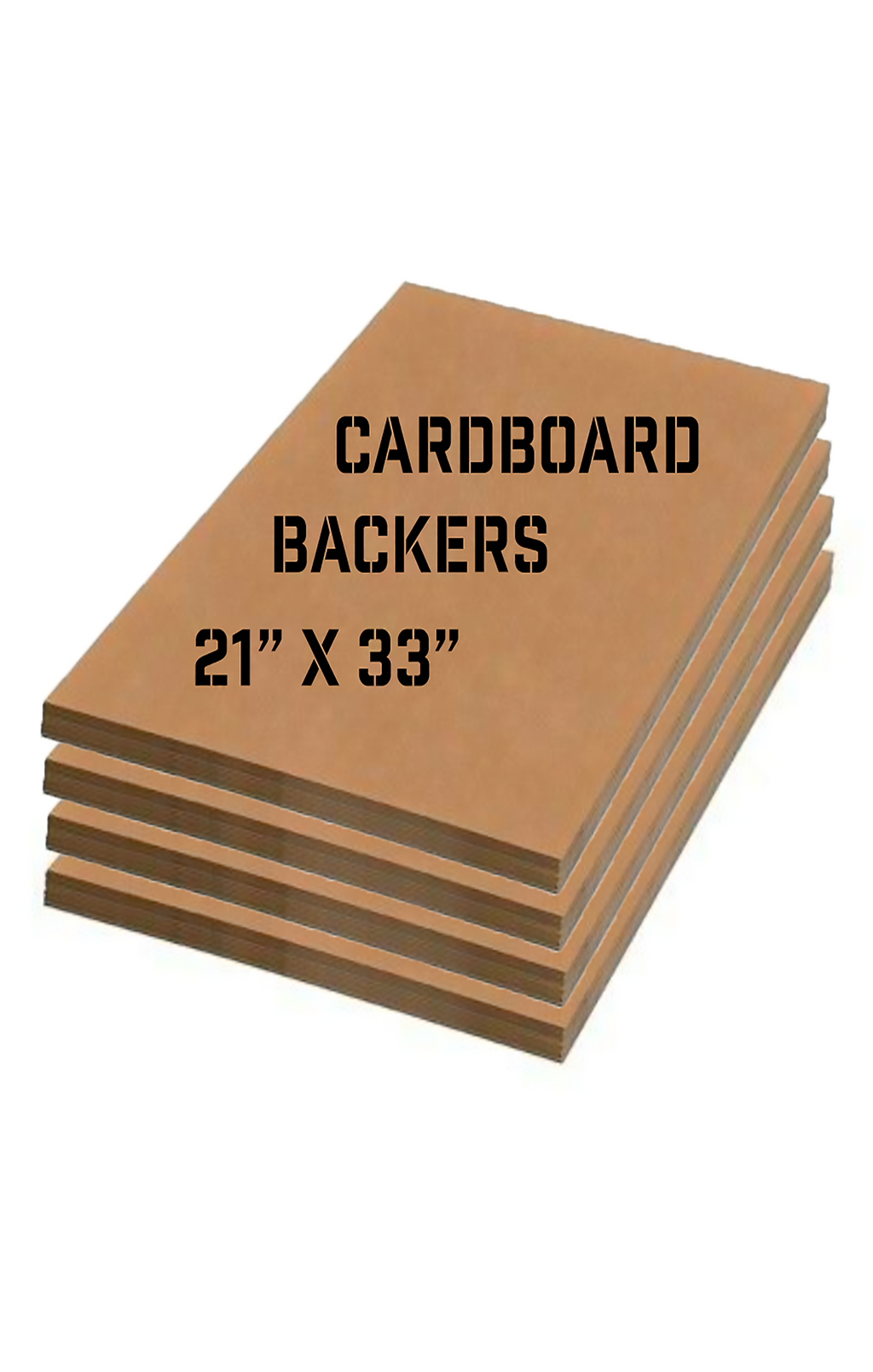 (10) Cardboard Backers 21X33 inches