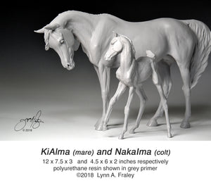 KiAlma and NakaIma, mare & foal set, cast-to-order deposit