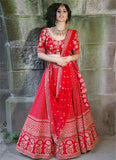 Crimson Red Lehenga