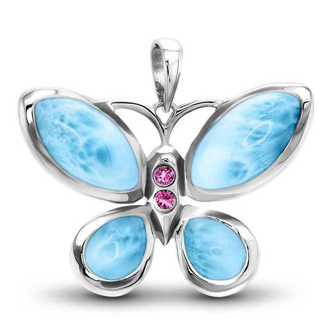 MARAHLAGO BUTTERFLY LARIMAR NECKLACE N01384
