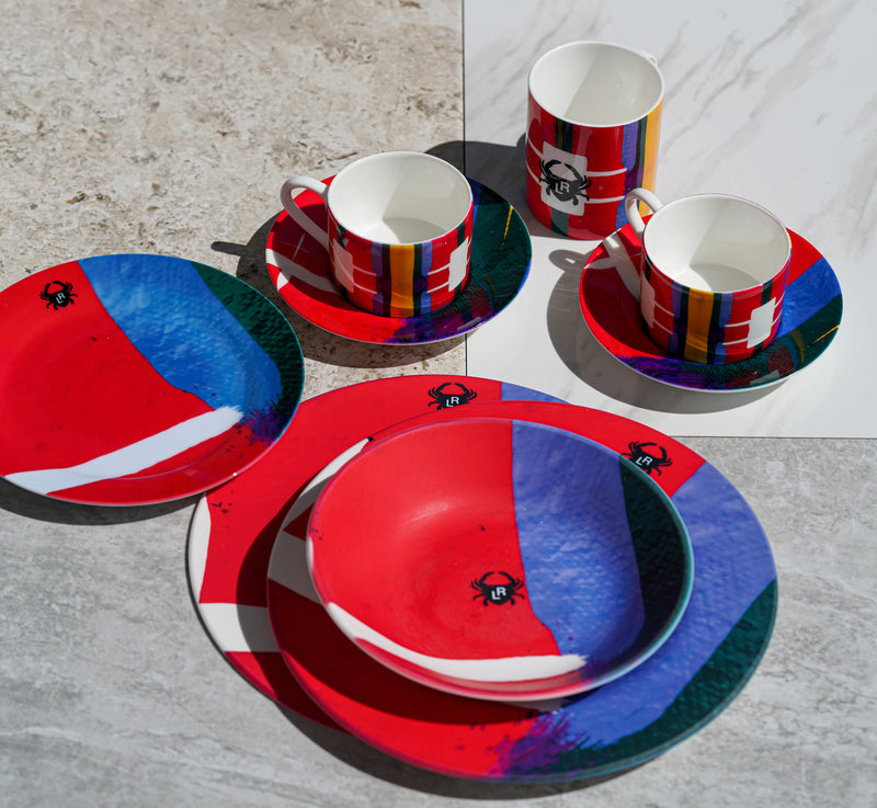 THE TRIBE CUP AND SAUCER SET