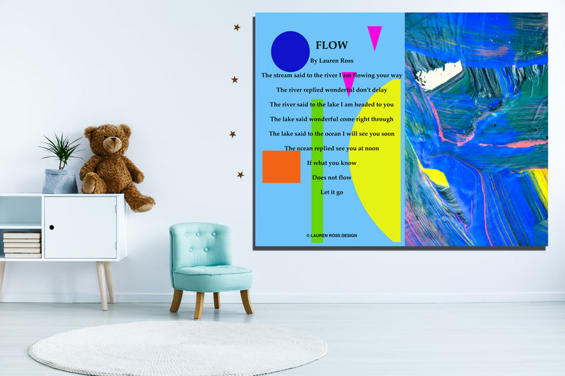 Flow Children's Archival Canvas Wrap