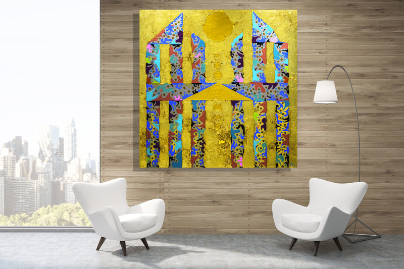 The Lost Temple of Exuberance Archival Canvas Wrap