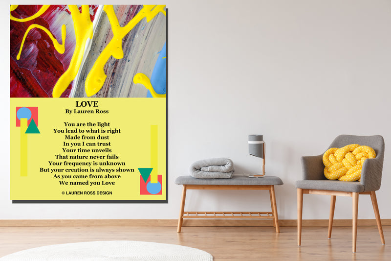lauren ross design love children's canvas wrap