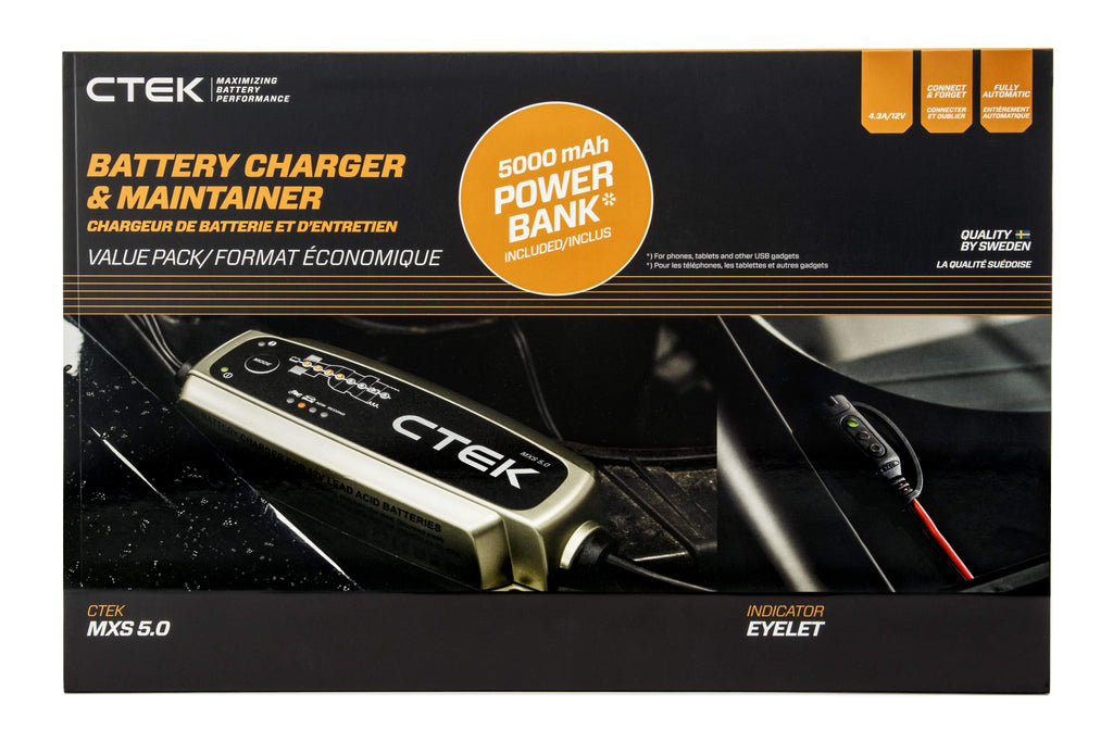CTEK MXS 5.0 Battery Care Kit
