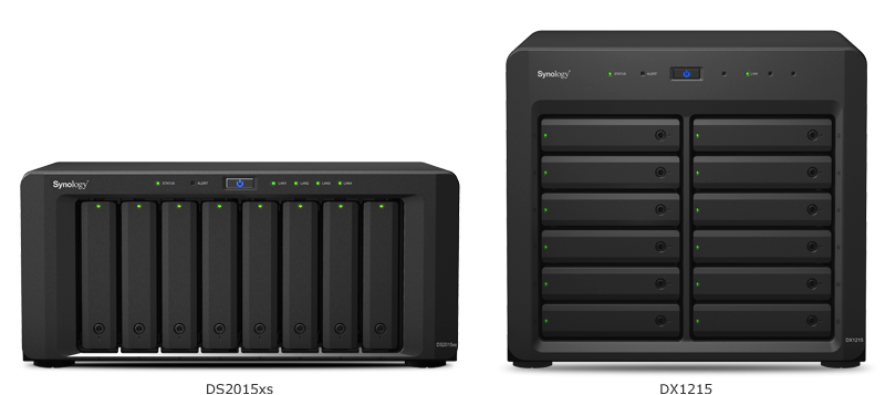 DS2015xs easily scales up to 20 drives and can be expanded to a maximum 120TB raw capacity