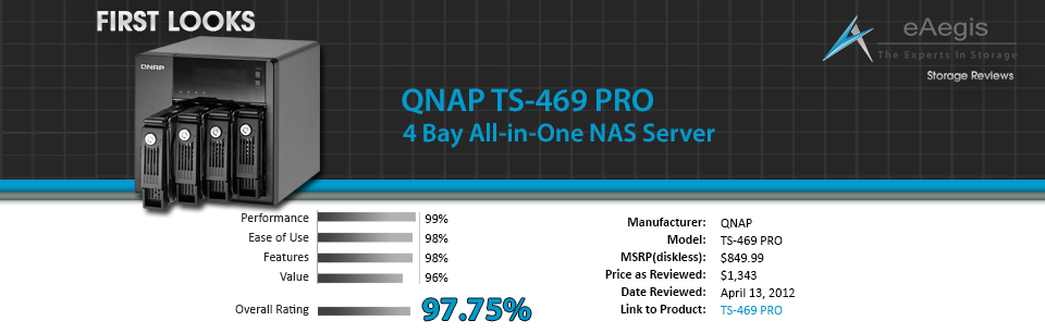 First Looks - QNAP TS-469-PRO eAegis Review