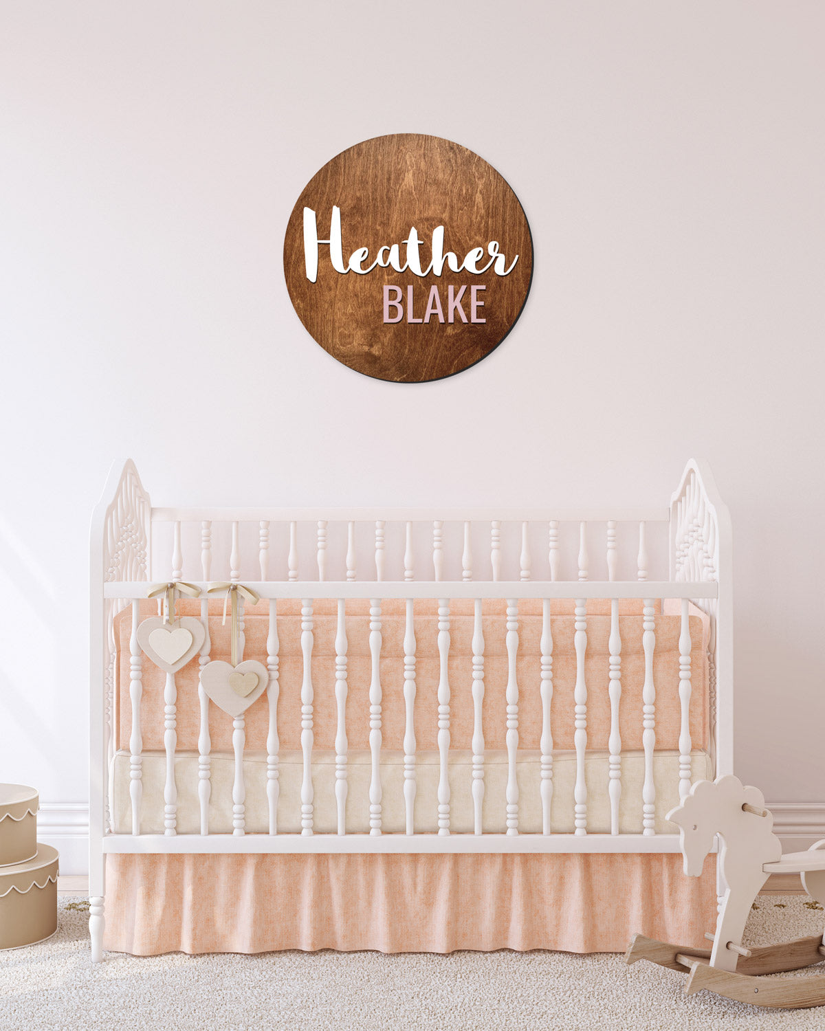 OAK WOODEN NURSERY NAME SIGN