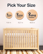 Load image into Gallery viewer, OAK WOODEN NURSERY NAME SIGN