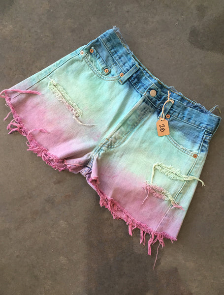 Blue & Pink distressed *Size 28*