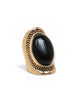Etched Stone Statement Ring