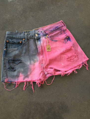 Pink & Black Distressed *Size 30*