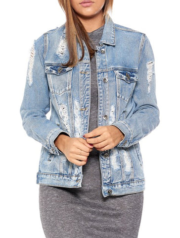 Ripped Up Denim Jacket