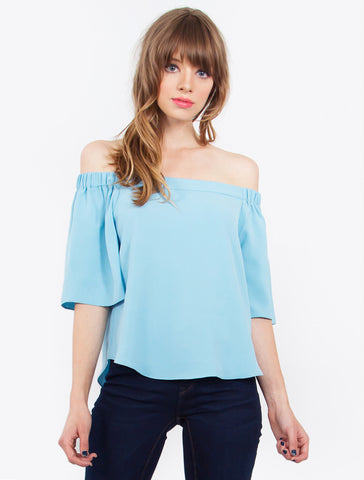 Tranquil Off The Shoulder Top