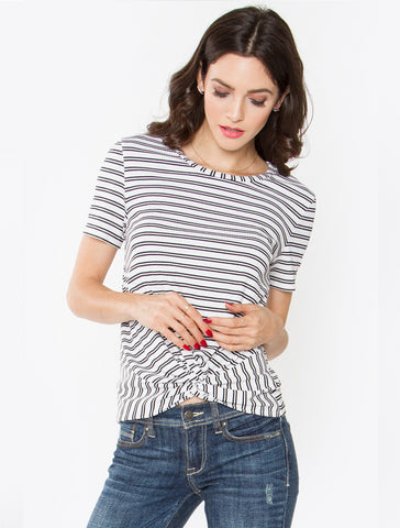 Kasen Twist Strip Top