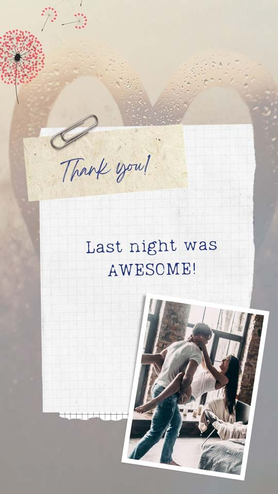 thank you for last night