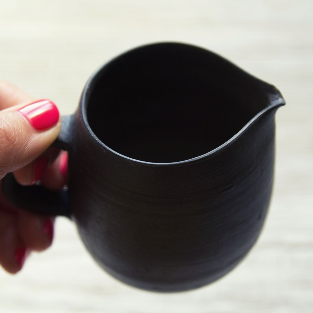 Creamer from black pottery
