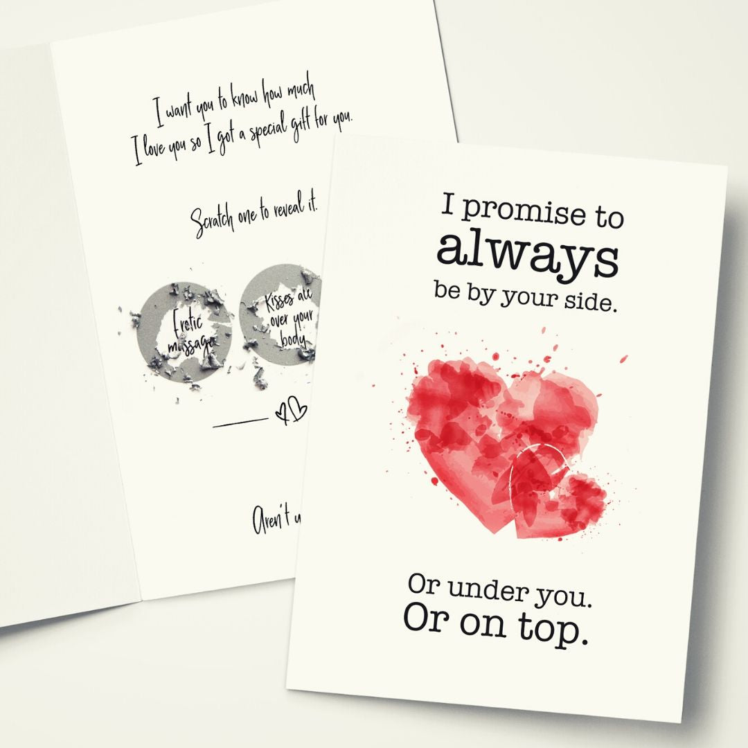 I love you cards for her of him with scratch off gifts