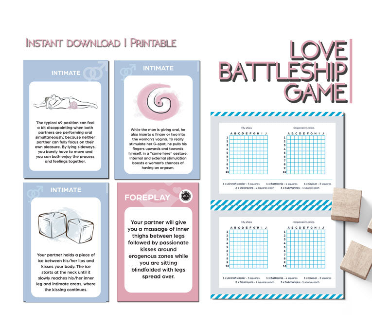 Printable game for couples