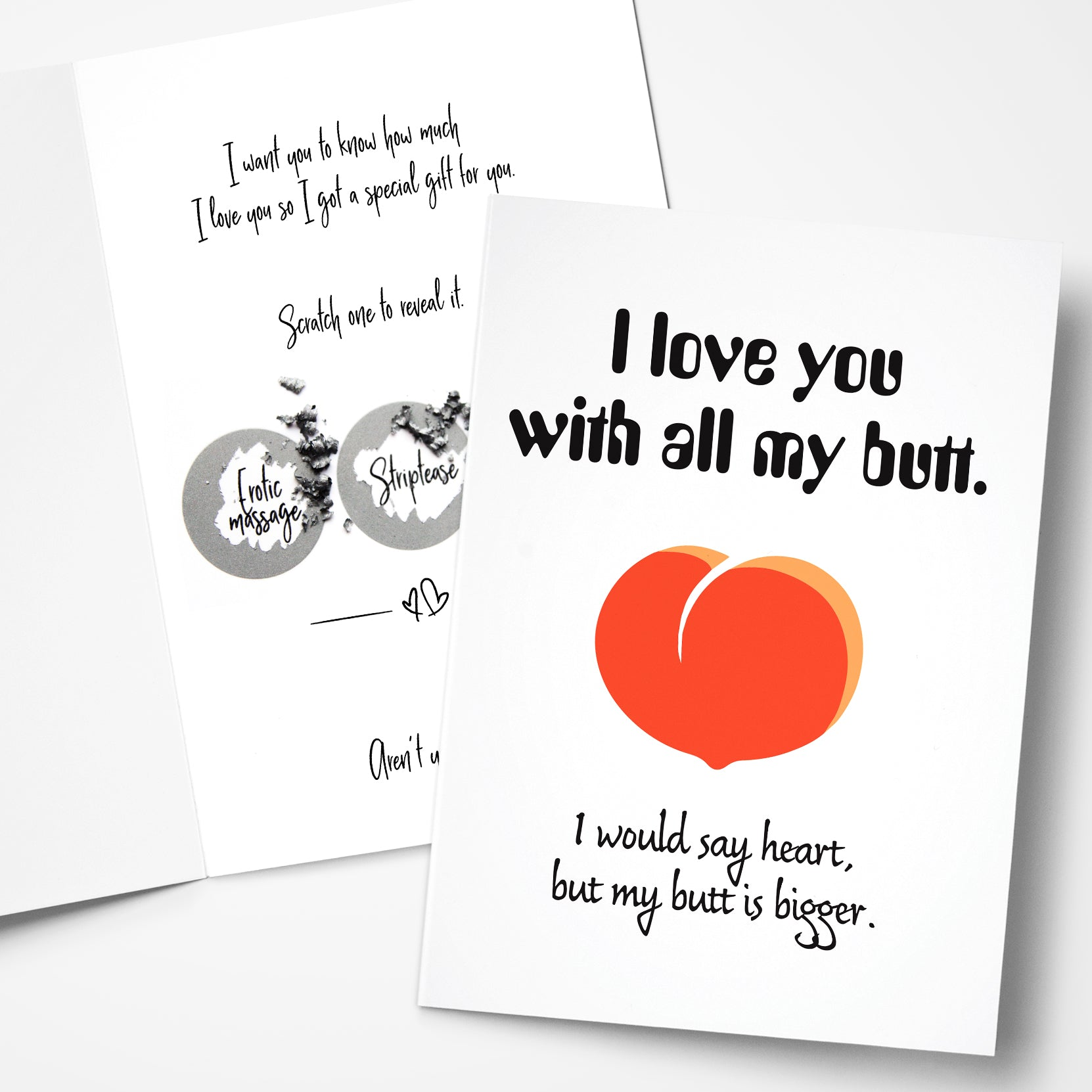 I love you cards for him with scratch off gifts