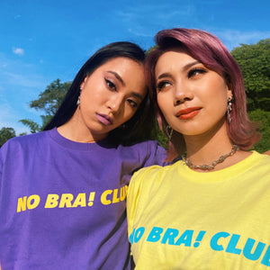 """NO BRA! CLUB"" T-shirts Purple"