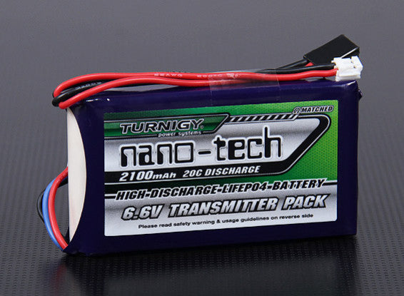 Turnigy Nano-Tech 2100mAh 2S1P 20C LiFePo4 Transmitter Pack