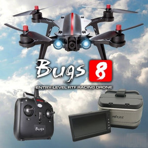 MJX Bugs 8 FPV Racing Drone with pre-installed Camera + 5.8G FPV Goggles