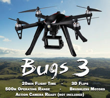 Load image into Gallery viewer, MJX Bugs 3 Brushless Drone w/ Action Camera Mount