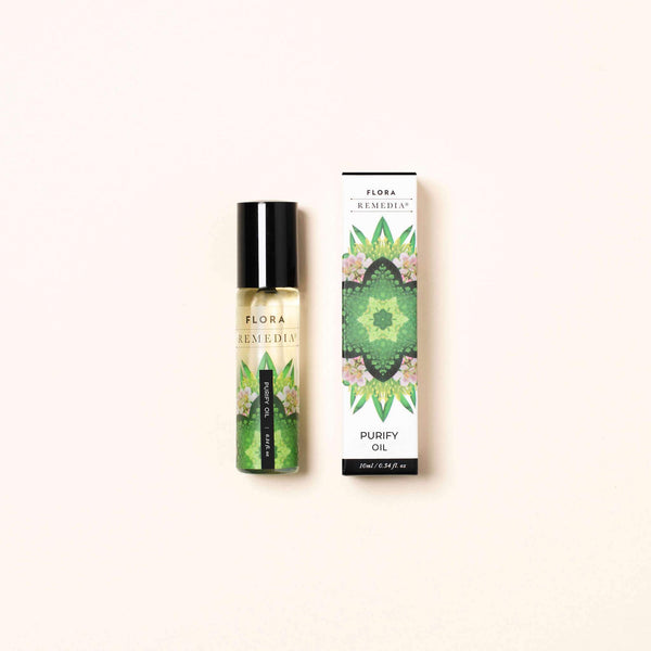 Purify aromatherapy roll on | Flora Remedia | Aromatherapy Clean Beauty Products | Skin Care Online