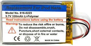 330mah Replacement Battery for Apple iPod Nano 1st Generation
