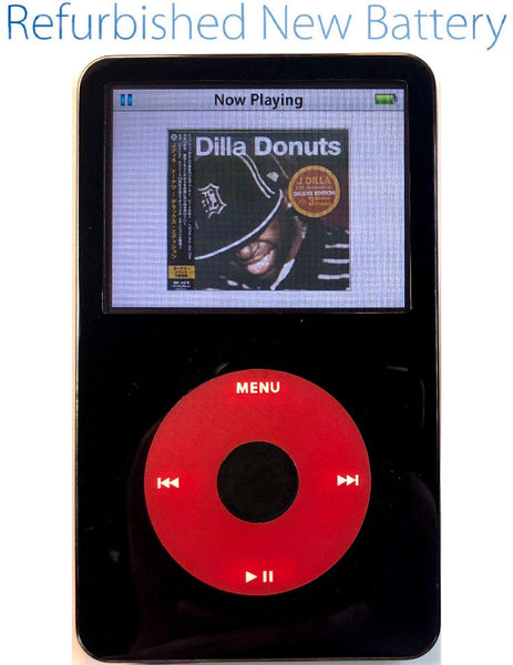 Refurbished Black & Red Apple iPod Video 5th & 5.5 Enhanced 30GB 60GB 80GB 128GB - New Battery