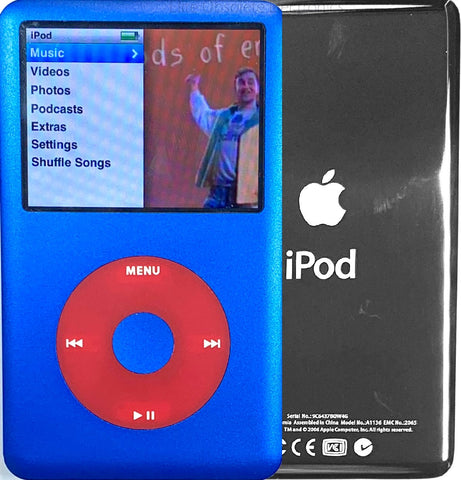 New Apple iPod Classic 6th & 7th Generation Blue / Red / Blue