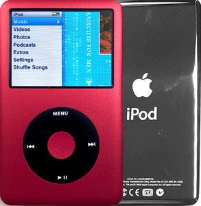 New Apple iPod Classic 6th & 7th Generation Red / Black / Red